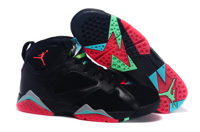 Air Jordan 7 barcelona nights Shoes Black/Red Blue Green